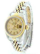 Rolex Datejust Ladies 18K Gold and  Stainless Steel Quick-Set 69173 26mm