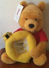 Disney Store 11 Inch Winnie The Pooh Soft / Plush Toy Photo Frame