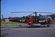 Original colour slide Alouette III H-20 (Rescue) Dutch Air Force / Navy