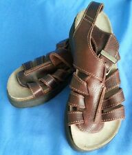 Women's Hokus Pokus Brown Leather Strappy Sandals Size 6 Made in Spain