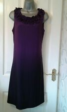 LADIES PURPLE DIP DYED SHIFT STRETCH DRESS BY RONNI NICOLE QVC SIZE  16