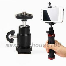 New 1/4 inch Dual Nuts Tripod Mount Screw to Flash Camera Hot Shoe Adapter