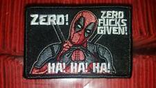 Deadpool the count  Zero Fu*ks Given Morale Patch Tad Pdw Motus Go ruck Gear