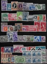 British Colonies 45 old stamps KGV to QEII - Mint Hinged & Used