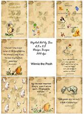 Pooh Bear/ Winnie The Pooh Selection - Card Toppers