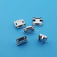10Pcs Micro USB Type B Female 5Pin Horns type Socket PCB Soldering Connectors