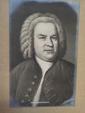 antique post card J.S. BACH Breitkopf Haertel 637