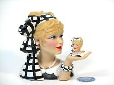 "Cameo Girls Head Vase Sasha 1964 ""Perfect Match"" MIB FREE SHIP"