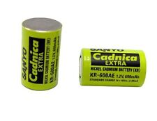 Sanyo Cadnica Extra KR-600AE Ni-Cd (Nickel Cadmium) 1.2V 600 mAh Rechargeable Ce