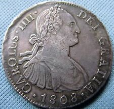 "1808 Mexico Spanish Silver ""Dollar"" 8 Reales - Early American Coin Carolus IIII"