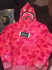 Bape Camo shark hoodie pink US Size Small