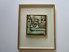 VINTAGE SCULPTURE ABSTRACT EXPRESSIONISM PAINTING MODERNIST CUBISM CERAMIC
