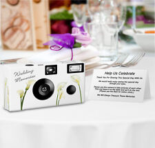 Calla Lilies PERSONALIZED Disposable Camera-8 Single Use Cameras-wedding camera