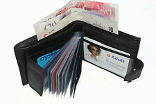 LEATHER WALLET /CREDITCARD/PHOTO HOLDER/COIN POUCH WITH ZIP SW-107 MENS