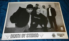 RARE DEATH BY STEREO DAY OF PRESS PUBLICITY PHOTO EPITAPH RECORDS 5X7 PUNK KBD