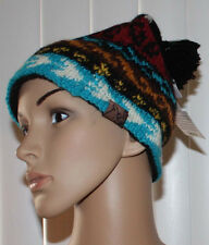 Turtle Fur Nepal BIKO Women's Multi-Colored Hand Knit Beanie Hat OS NWT **