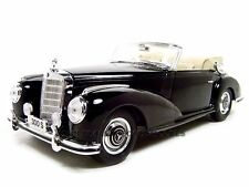 1955 MERCEDES 300S BLACK CABRIOLET 1/18 DIECAST CAR MODEL BY MAISTO 31806