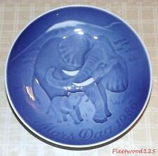 "Bing & Grondahl Mothers Day Plate Elephant, B&G, 1986, 6"" W, NEW"