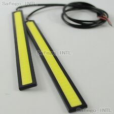 2x 12V COB White Car LED Lights for DRL Fog Driving Lamp Waterproof Super Bright