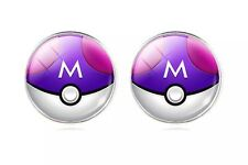 Pokemon Master Ball Pair Of Cabochon Stud Earrings US Seller