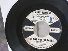SOUL R&B 45: MARV JOHNSON You Got What It Takes/Don't Leave Me WHITE LABEL PROMO