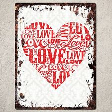 PP0102 Rustic Love Valentine's Day Gift Parking Plate Home Cafe Wall Decor Sign