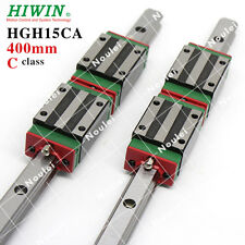 HIWIN Linear Guides, 2pcs 400mm HGR15 CNC Rails+4pcs Blocks HGH15CA
