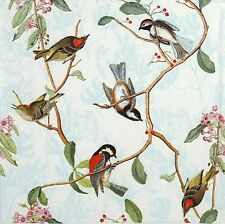 4 Single Lunch Table Party Paper Napkins for Decoupage Decopatch Craft Birdsong