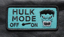HULK MODE ON  TACTICAL SWAT ARMY COMBAT 3 INCH  HOOK LOOP PATCH