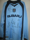 Coventry City 2002-2003 Match Worn Squad Signed Football Shirt with COA /6786