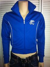 Royal Blue vintage Polyester Warm Up LEVI'S GYM Jacket Track Metro Medium 70's