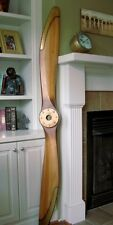 "WWI Sopwith Camel Replica Wood Wooden Airplane Aircraft Propeller 84"" Brass Prop"