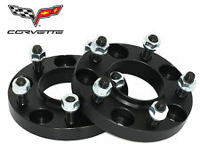 "2 Pc Chevy Corvette Camarao 5x4.75"" 20 MM Thick Black Hub Centric Wheel Spacers"