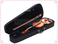 School student 3/4 Solidwood Violin-Bow-Rosin-Case & A Free String Set