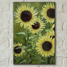 Sunflowers 8x12 Decorative Ceramic Picture Art Tile Floral Summer Decor 05844