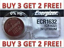Energizer ECR1632 CR 1632 Lithium 3V Battery Brand NEW BUY 3 GET 2 FREE!!