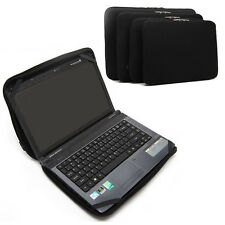"""Pure Black Notebook Fixed Sleeve Case Bag Cover For 13"""" Dell Sony Lenovo Laptop"""