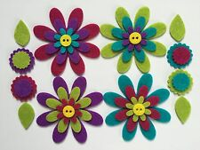 Felt flower shapes for crafts