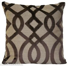 Brown Cushion Cover Pillow Throw Osborne And Little Velvet Fabric Du Barry