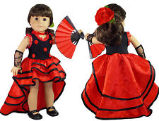 "DB NINA FLAMENCO OUTFIT for 18"" American Girl Dolls Josefina Spanish Dress NEW"