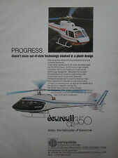 5/1977 PUB AEROSPATIALE HELICOPTERE ECUREUIL AS 350 HUBSCHRAUBER HELICOPTER AD