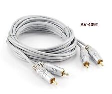 9ft 2-RCA to 2-RCA Silver Male to Male DJ/Mixer/Stereo System Audio Cable