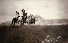 Sioux Chiefs on the Plains of Dakota, Native American Indian, Horses -- Postcard