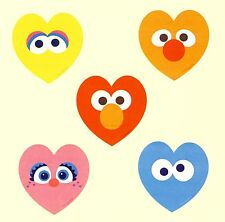 15 Sesame Street Heart Shaped - Large Stickers - Party Favors - Valentine's
