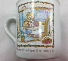 "Hallmark Coffee Mug 1985 Momma Bunnie Baby ""Home is where the Heart Is""q"