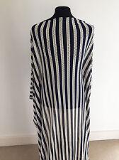Nautique à rayures bleu marine/crème découpe laser jersey couture tissu