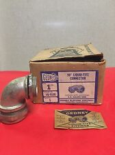 """1969 GEDNEY 4Q-9100  LIQUIDTIGHT CONNECTOR SIZE 1"""" 90 Degree NEW OLD STOCK"""