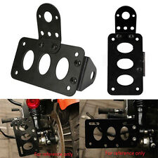 1pc Black Side Mount License Plate Tail Light Bracket License Plate Lamp Holder
