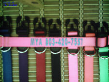 """Big 1""""Wide,Personalized Embroidered  Dog Collar,With Up To 24 Letters Monogramed"""
