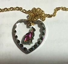 Corning Museum Of Glass Cat Heart Pendant Charm Necklace Glassmarket